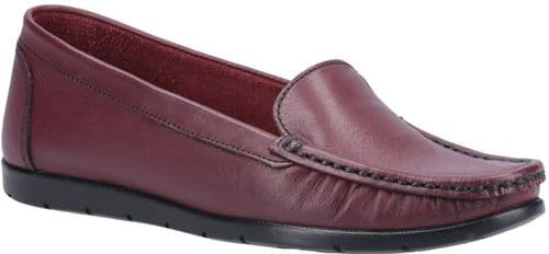 Fleet & Foster Tiggy Slip On Ladies Shoes Wine